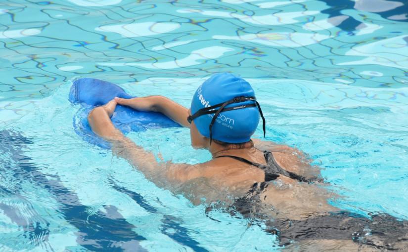 Using swimming training aids